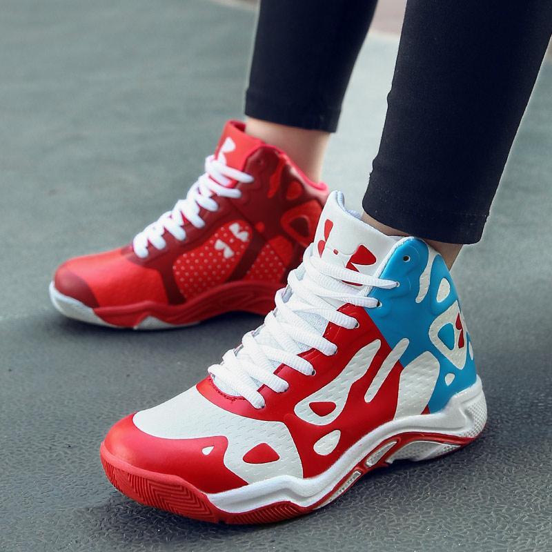 EU29-36 Children Profesional Asli Sepatu Keranjang Sepatu Bola Keranjang Putra Latihan Sneakers Renda Hingga Keranjang Homme Autentik Olahraga siswa Antislip Baloncesto Basquet Sepatu Keranjang Profesional