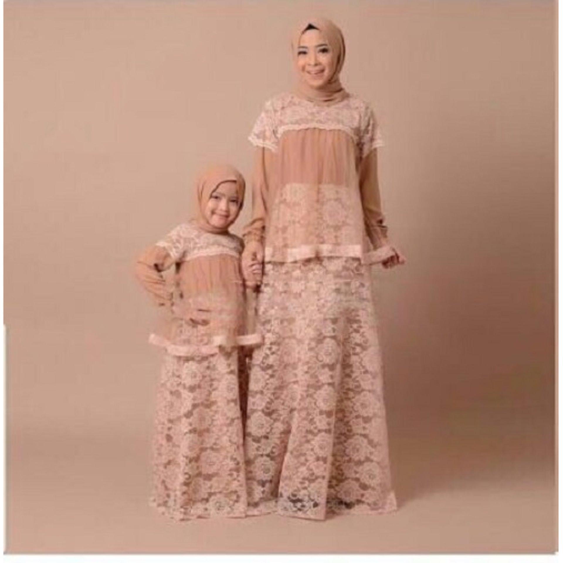 T-OS Pakaian Muslim Wanita Gamis Maxi Wardani Couple Ibu & Anak