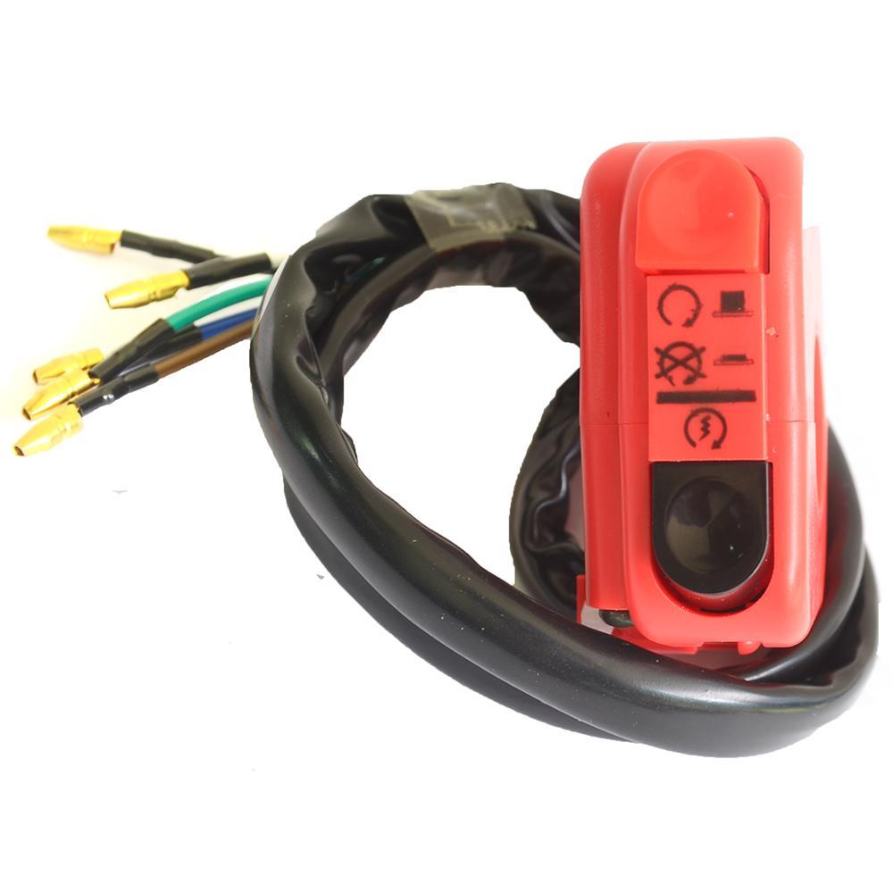 RajaMotor SCT Saklar Kecil Starter dan Lampu On/Off - Merah