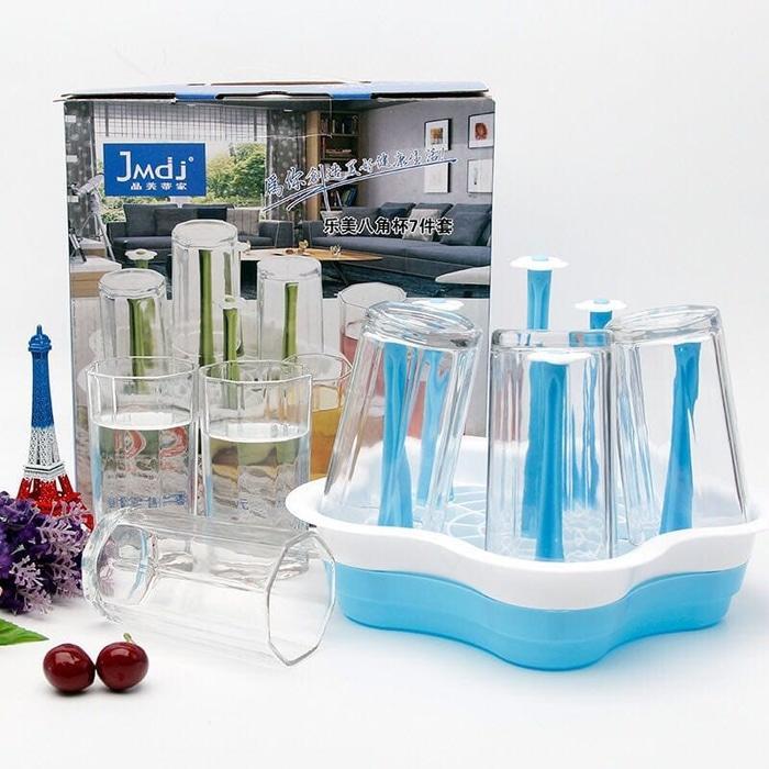 7in1 Water Glass + Tatakan Gelas (230ml) - TOSERBA MEDAN
