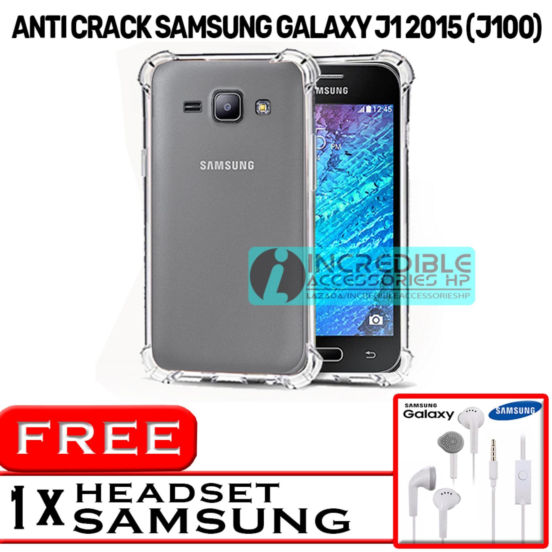 PROMO  Case Anti Shock / Anti Crack Elegant Softcase  for Samsung Galaxy J1 2015 (J100) - White Cle