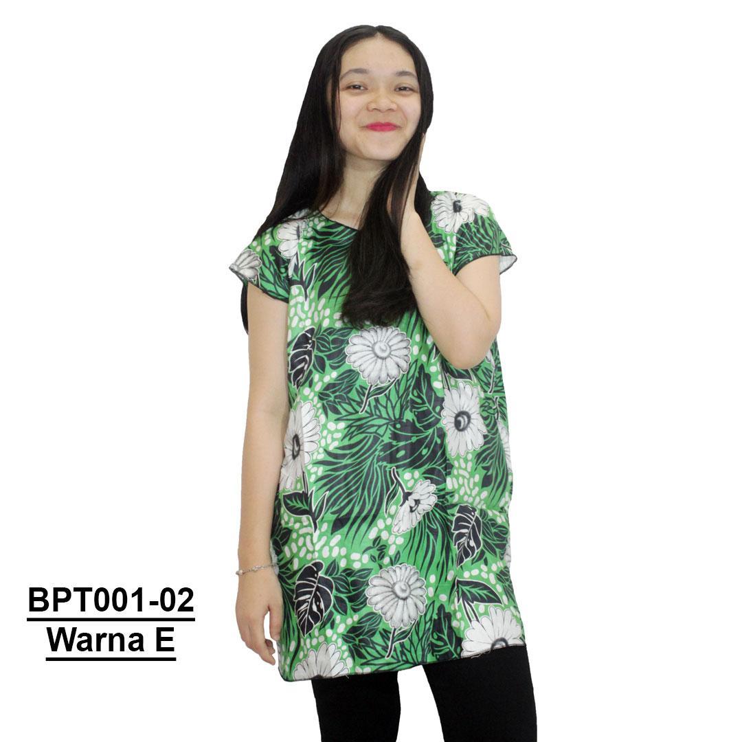 Blus Santai, Baju Tidur, Piyama, Daster Batik, Atasan Batik (BPT001-02)