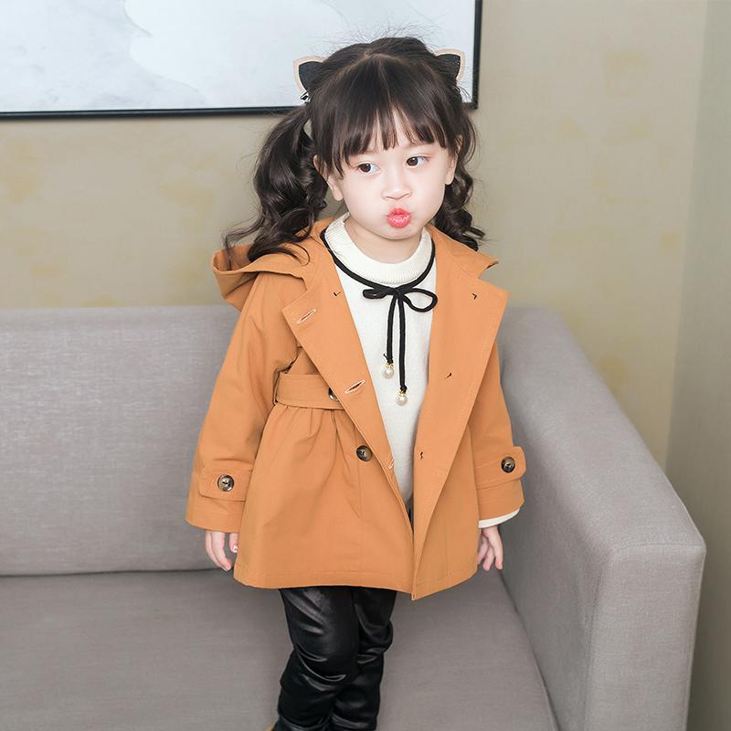 Sayang Korea Modis Model Gaya Musim Semi Produk Baru Bayi atau Katun Jas Gadis Jaket Angin (Warna Karamel)