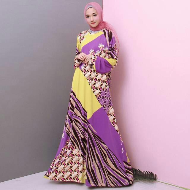 Gamis Jumbo Bahan Jersey Korea Muslim 6571 / 6729