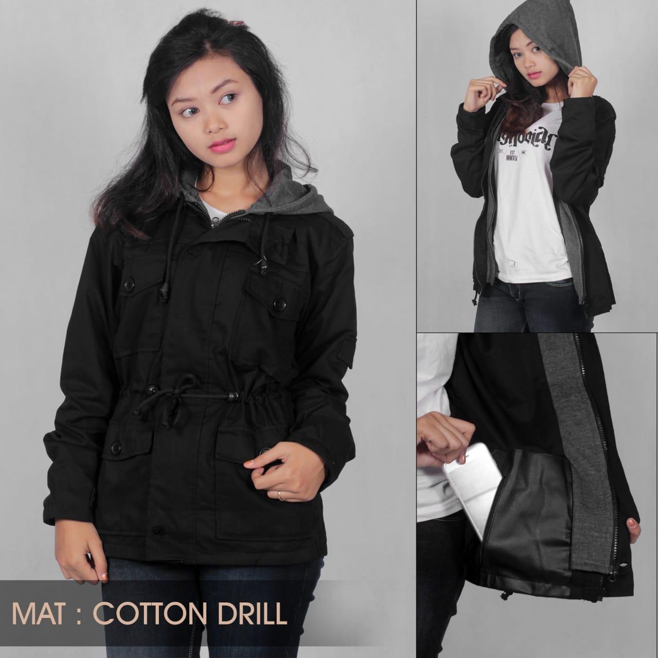 Harga Korea Fashion Style Siswa Perempuan Musim Semi Dan Gugur Jaket Kulit Korean Sk 80 Ga Parka Cewe Black Original Kodzo Cotton Drill