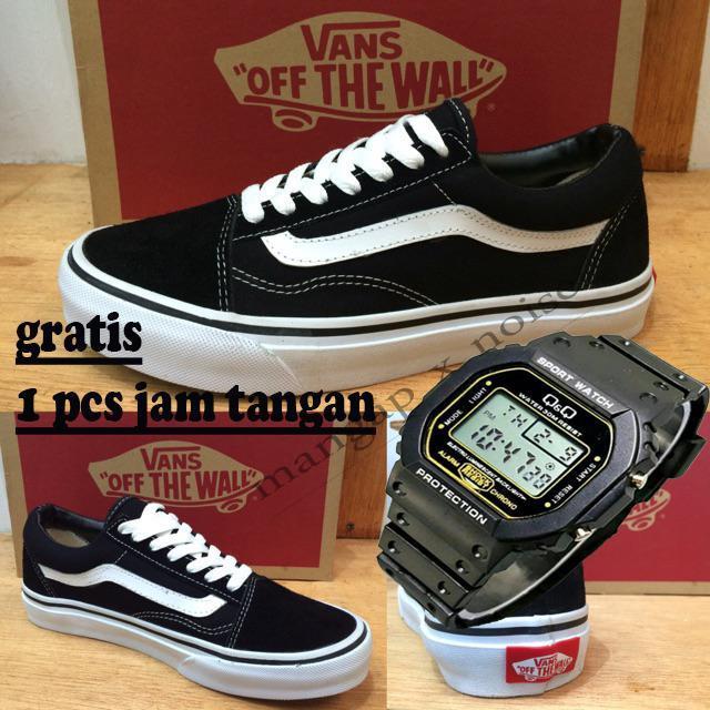 Sepatu Kasual VANS Pria - Wanita / Original / Best Quality / Limited Edition / Free Jam Tangan