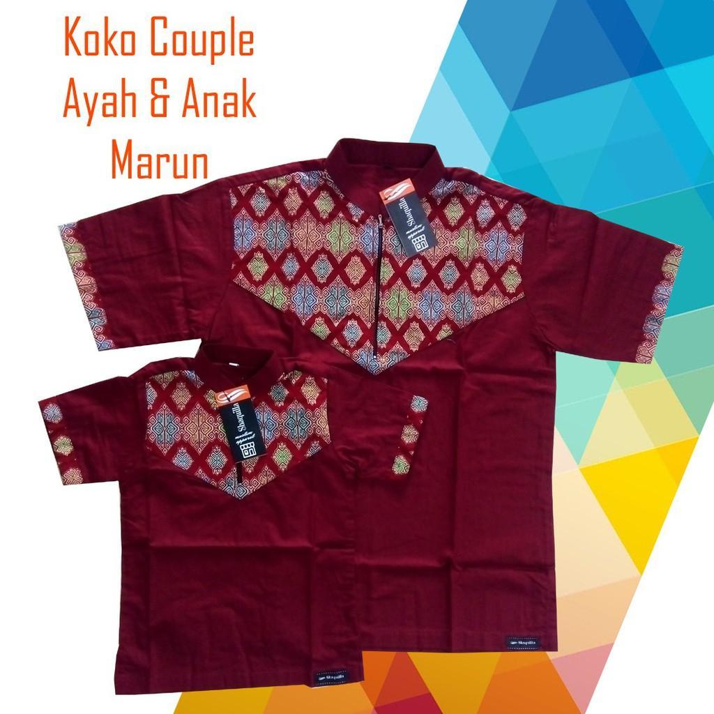Koko Couple / koko anak / koko dewasa / koko anak dan ayah / baju koko / koko/ busana muslim (DWS Marun M)