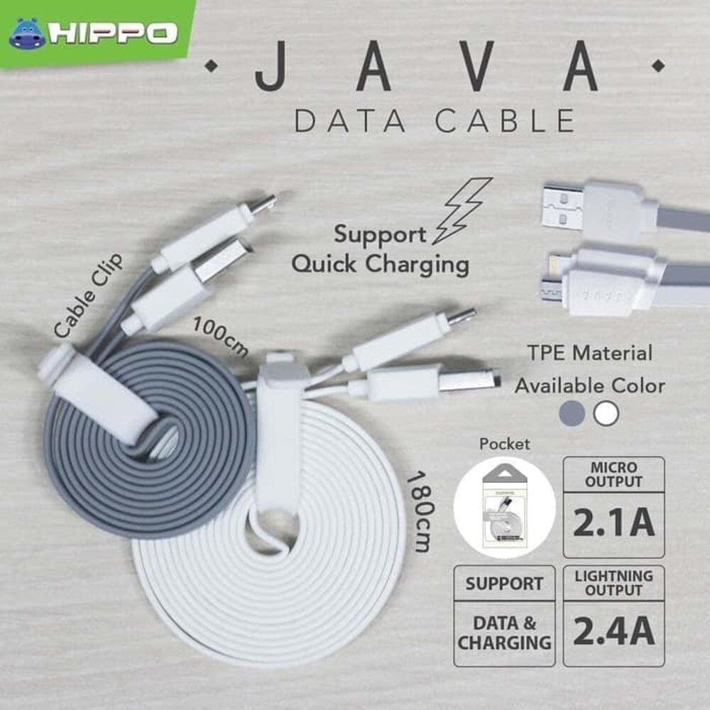 Kabel Data Hippo Java Type C 180 CM Cable Data Handphone Hp