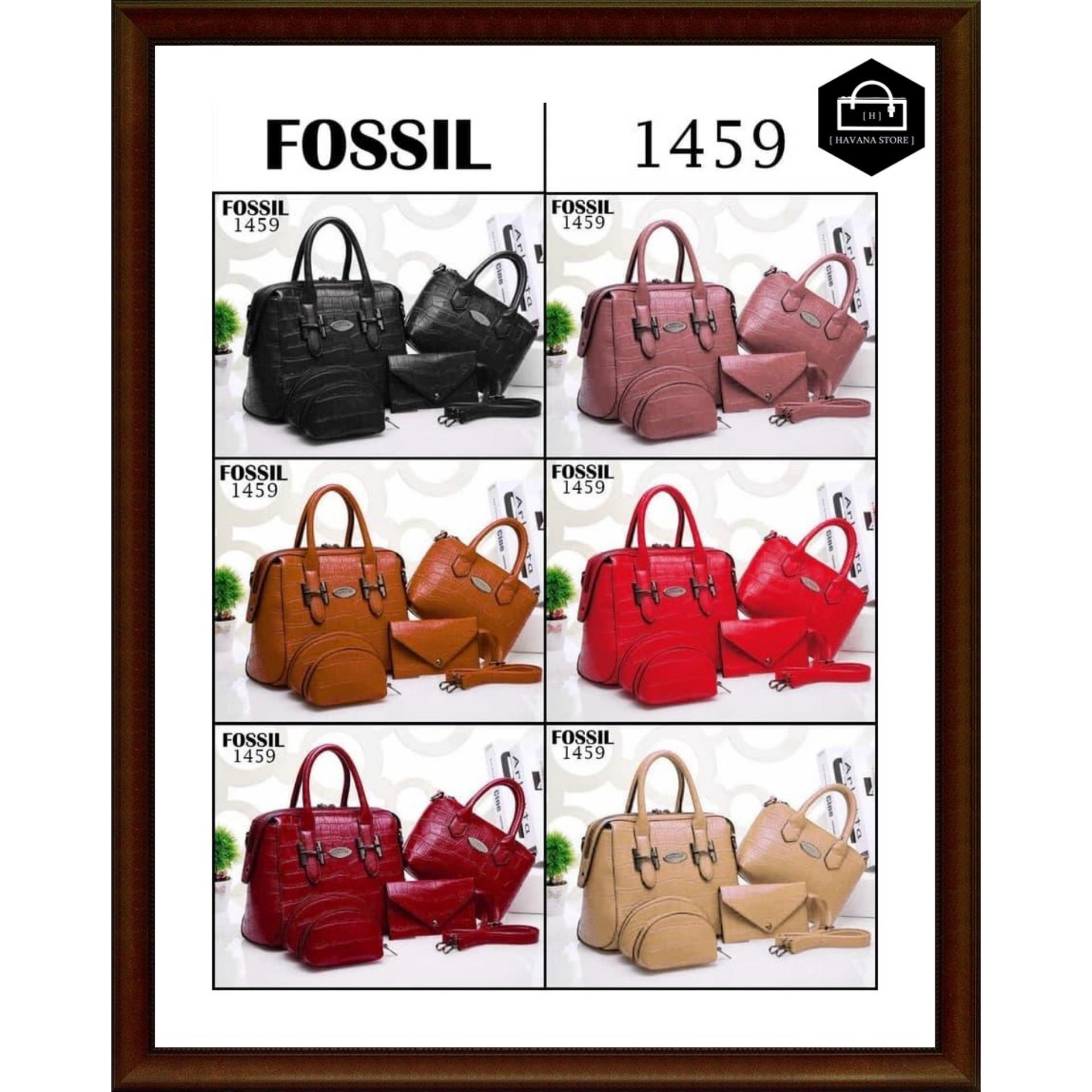 Buy Sell Cheapest Promo Fossil Maddox Best Quality Product Deals Tas Kulit Ori Emboss Croco 5in1 Semi 1459 Bag Branded Mirror