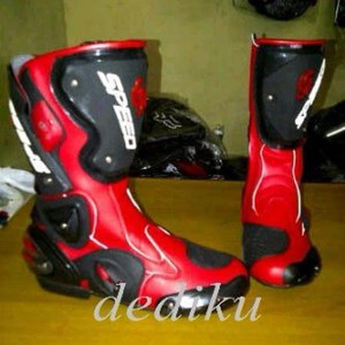 T2105 Sepatu Touring Cross Trail Balap Drag Anti Air Ap Boots Moto 3 ... 6ff224e0ac