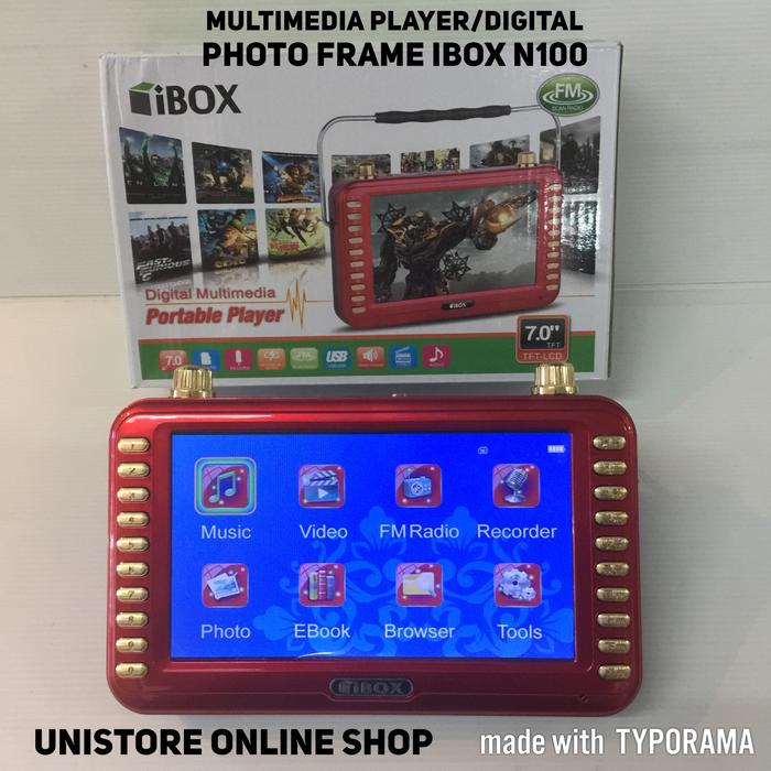 Multimedia playerDigital photo frame movie player iBox N100