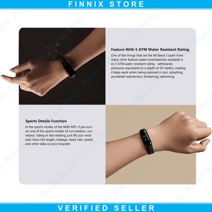 Promo - Xiaomi Mi Band 3 OLED 5 ATM Waterproof Smart Bracelet Smartwatch
