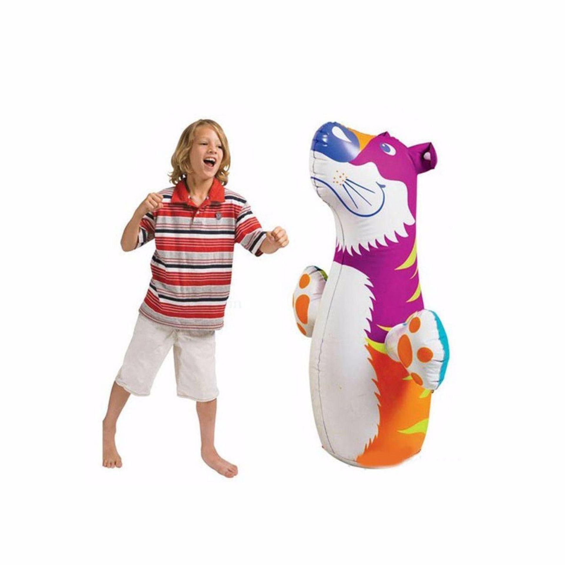 Intex Inflatable 3-D Bop Bags (tiger) Mainan Samsak Anak By Sportsite.
