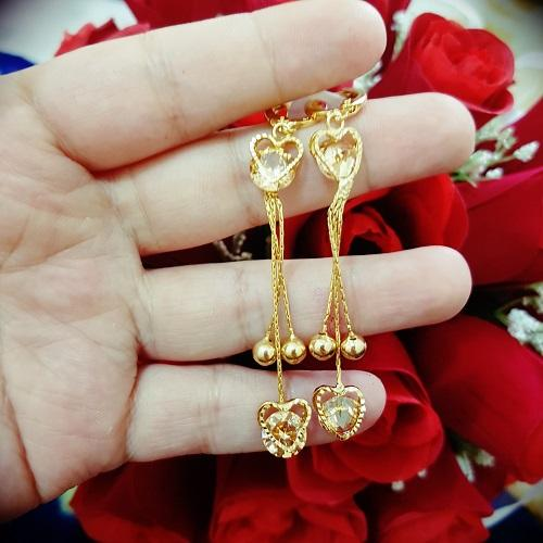 anting panjang love cantik xuping gold