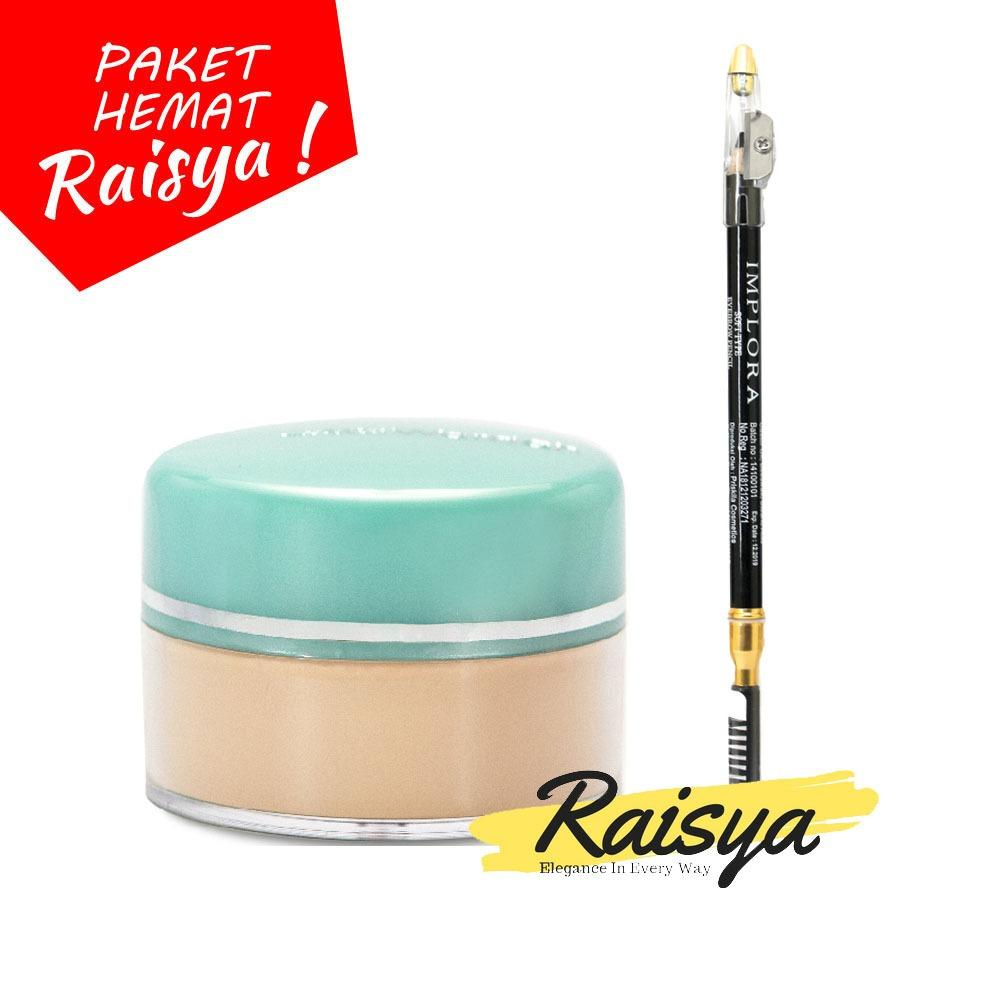 Wardah Everyday Luminous Face Powder - Bedak Tabur - 01 Light Beige Free Implora Pensil Alis Hitam Resmi BPOM