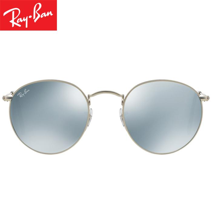 Rayban RB3447 019/30 50-21 Round Flash Lenses Kacamata Pria Wanita Eye Wear Men Women Sunglasses Silver Frame Silver Flash Lens