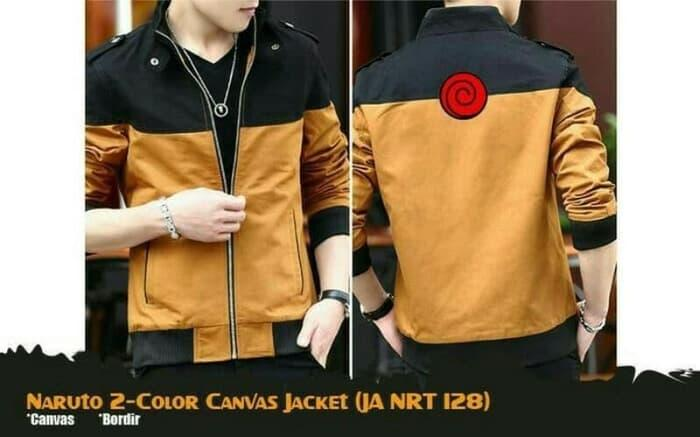Jaket Anime Naruto Canvas 2 Colour (JA NRT 128) - Limited