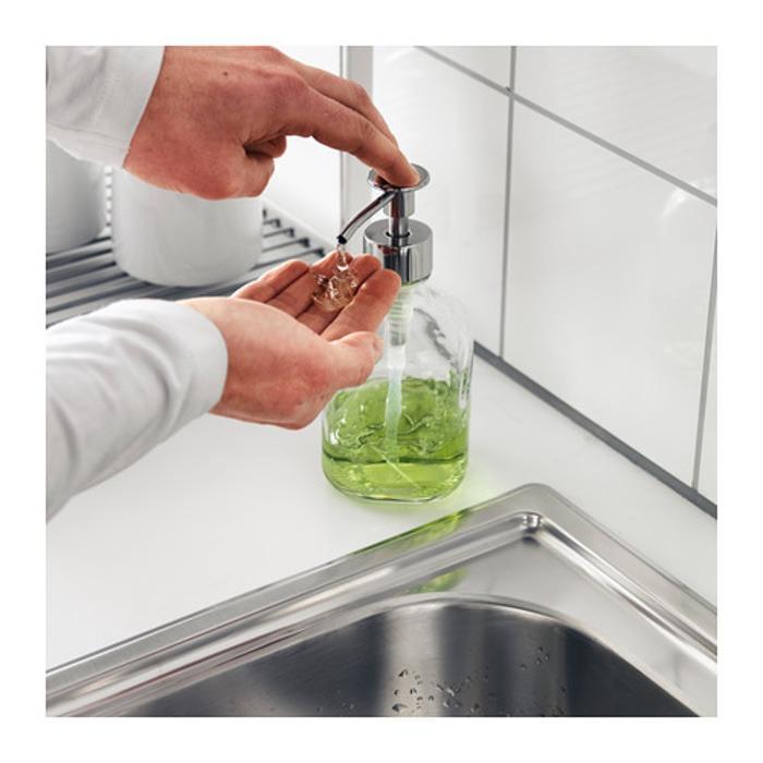 IKEA BESTAENDE Dispenser sabun cuci piring, kaca bening