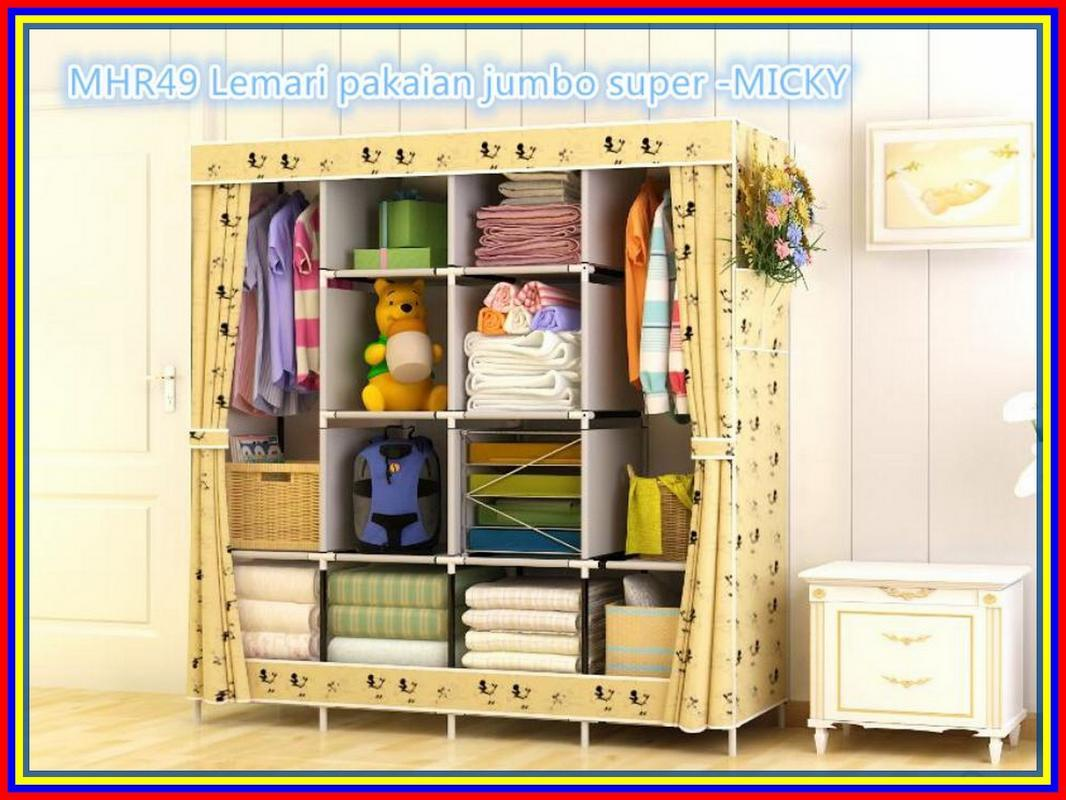 Buy Sell Cheapest Starstore Mhr49 Lemari Best Quality Product Pakaian Jumbo Unik Super Multifunction Wardrobe Micky