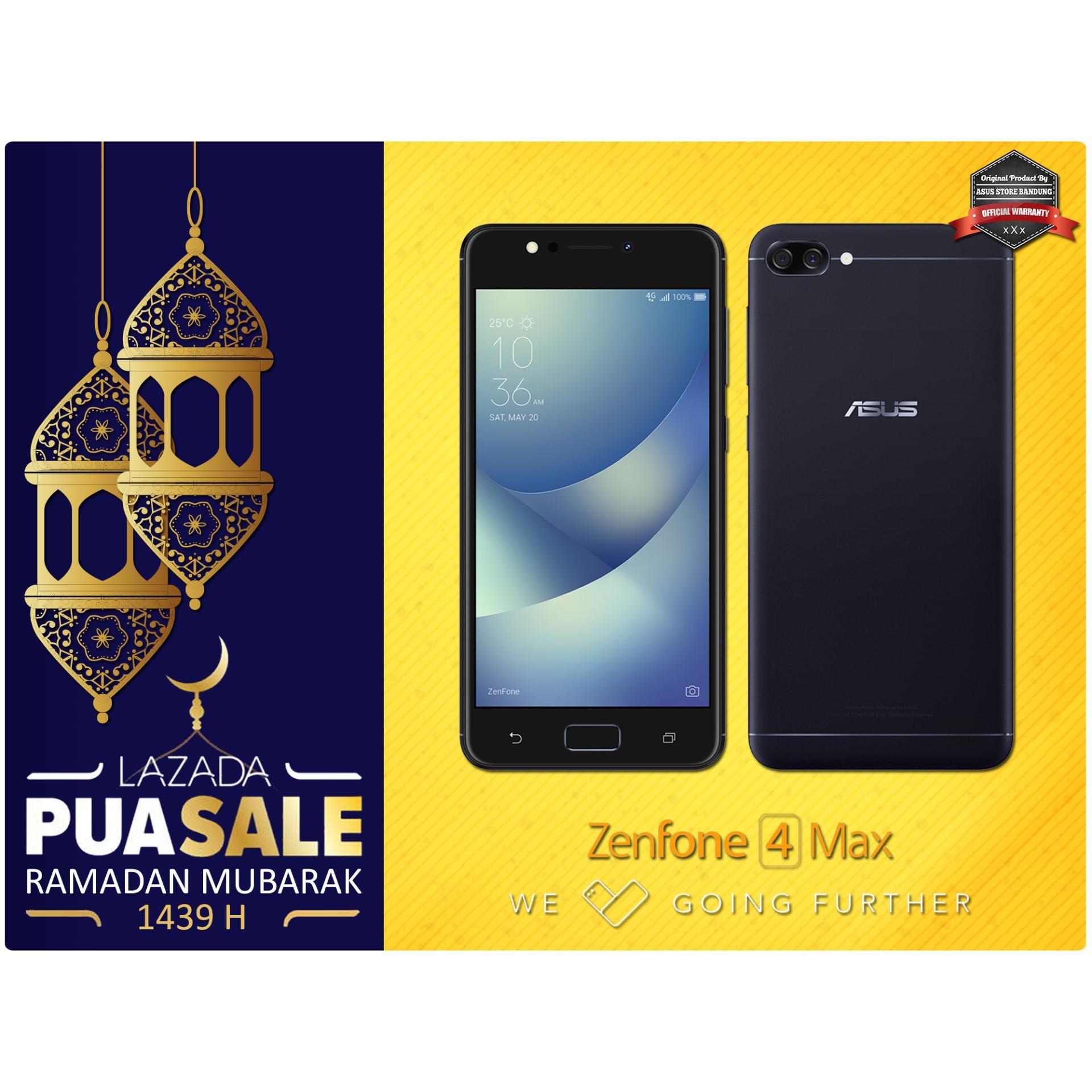 Asus Zenfone 4 Max ZC520KL 4G 3/32 13MP + 5MP + 8MP Android N + Free Snack Spesial Ramadan Garansi Resmi