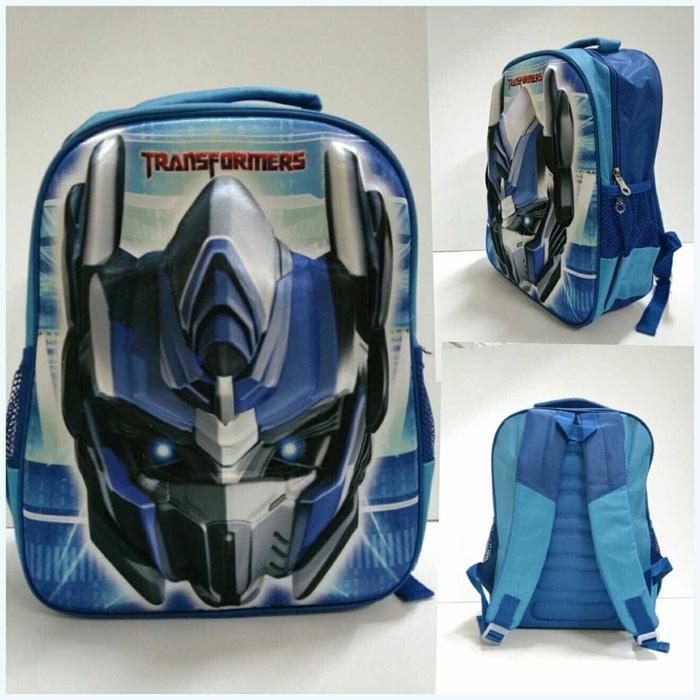 ... BGC Transformer Bumble Bee 3D Timbul Hard Cover Tas Ransel Sekolah Anak SD Yellow NEW
