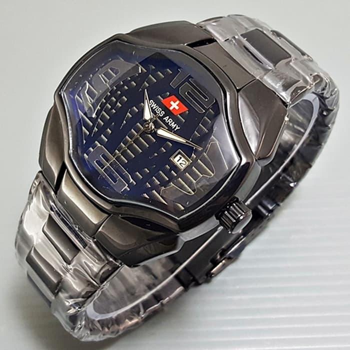 HARGA DISKON!!! Jam Tangan Pria / Cowok Swiss Army Transformer Rantai Black