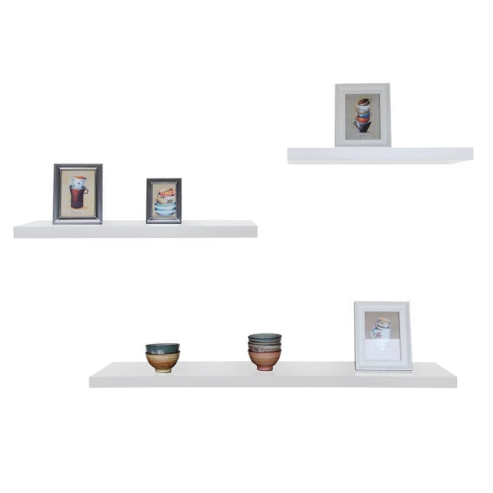 Floating Shelves / Ambalan / Rak Dinding Minimalis Set 3pcs [40cm / 30cm / 20cm