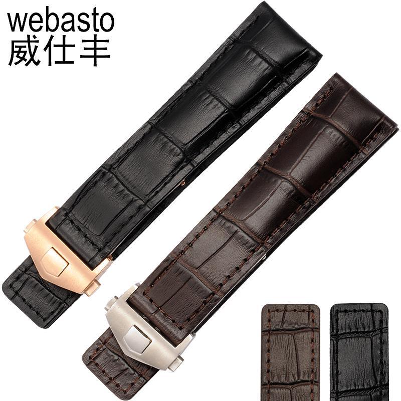 Label Heuer Sabuk Kulit Tali Selai Tangan 19mm20 Adaptasi Kulit Buaya Pola Kulit