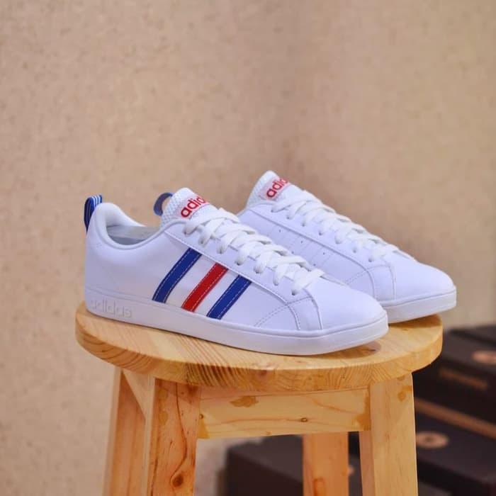 Sepatu Adidas ORIGINAL Advantage Clean France pria/wanita/cowok/cewek - Putih, 39 - QPpTAn
