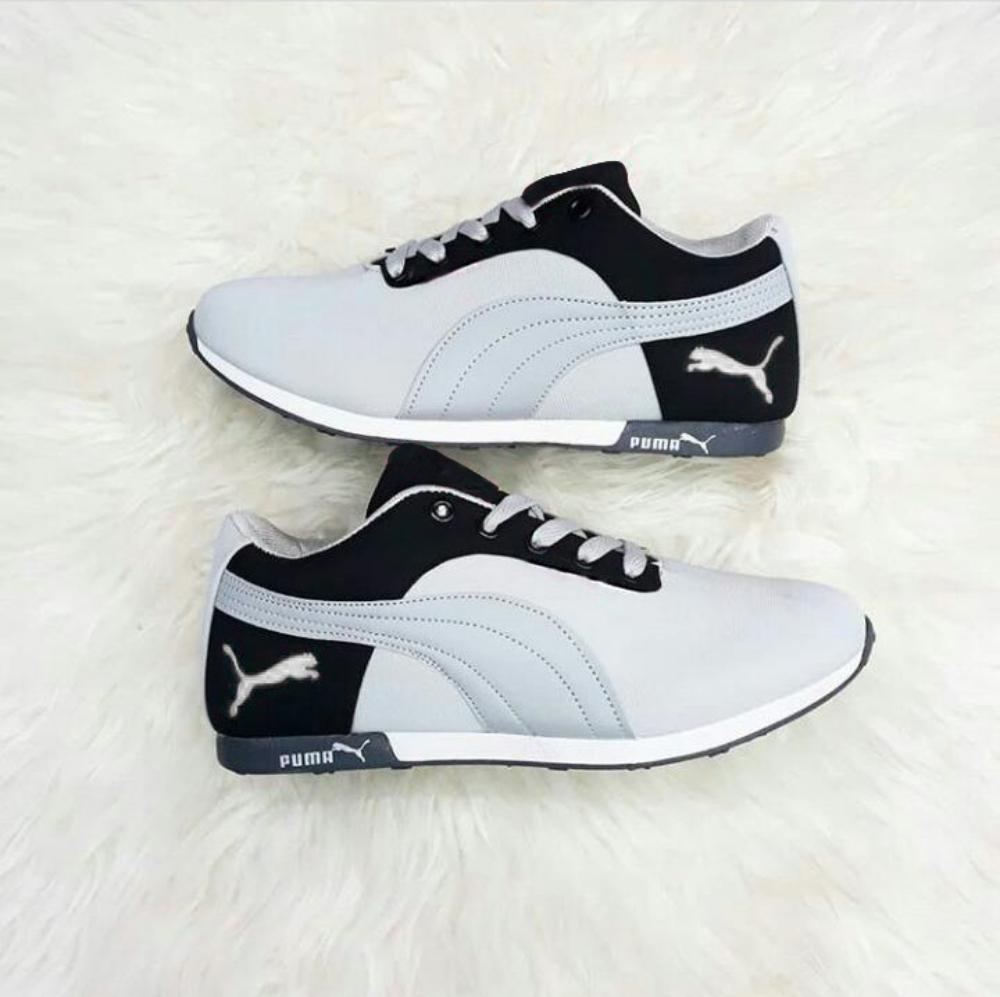 Sepatu Sneaker DN 72 Peach Abu Hitam Abu