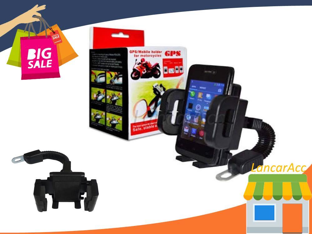 Jual Phone Holder Sepeda Motor 360 Derajat Rotasi Tempat Taruh Handphone Di Sepeda Dan Motor Dudukan