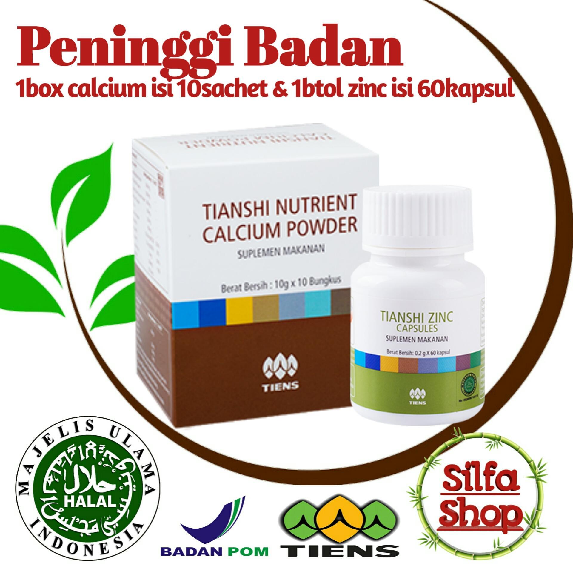 Promo Ramadhan Termurah Peninggi badan Tiens asli manjur produk nomer1 dunia Nutrient high kalsium dan Zinc Capsules By Silfa Shop