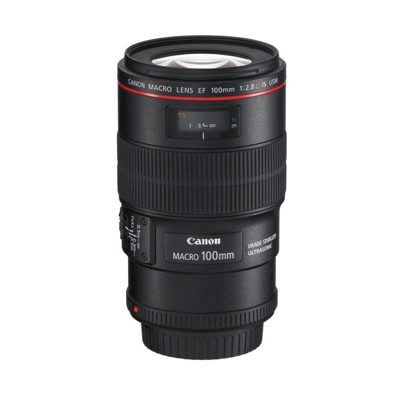 Canon EF 100mm f/2.8L Macro IS USM - Hitam