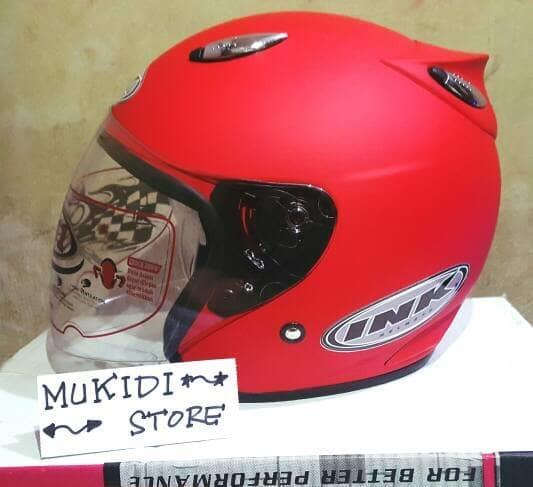 Helm basic INK Centro - Merah Doff - bkn KYT BOGO AGV RETRO CROSS ANAK Terlaris di Marketplace Lazada