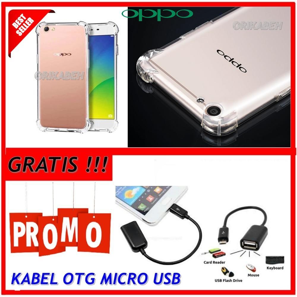 Back Case Soft Jacket / Anti Crack Oppo F3 - Bahan Lebih Bagus + Gratis Kabel Otg Micro Usb ( orikabeh )