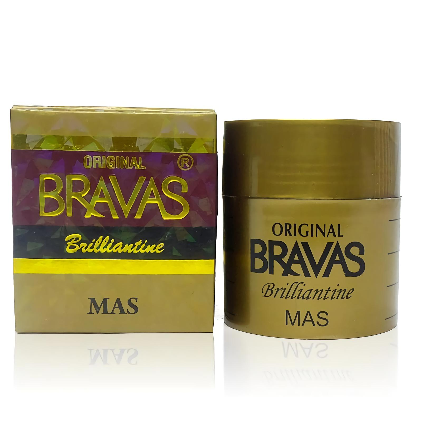 BRAVAS Pomade Brilliantine MAS 80G Original BPOM Minyak Rambut Penata XX-CT