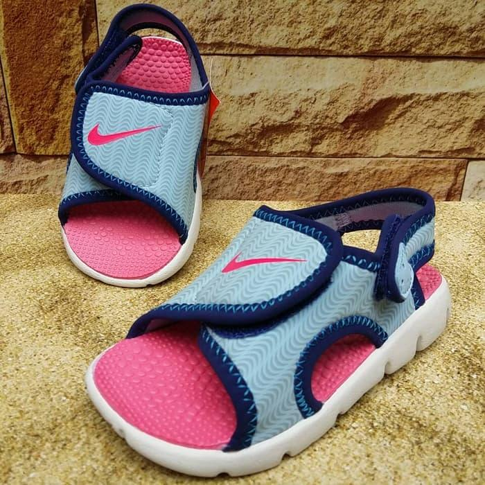 Hot Item!! Sandal Anak - Nike Sunray Adjust 4 (Blue Pink) - ready stock
