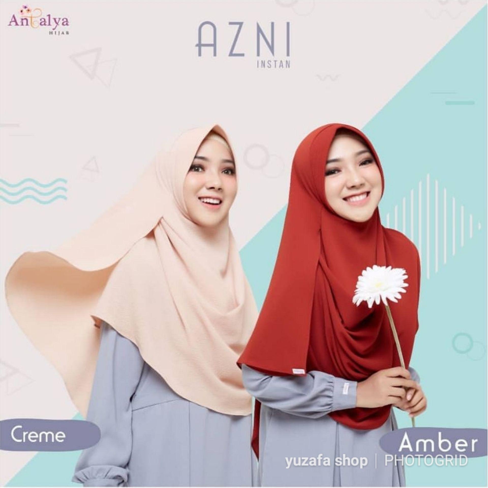 Antalya Hijab Azni Instan Size S Cream Yuzafa Olshop