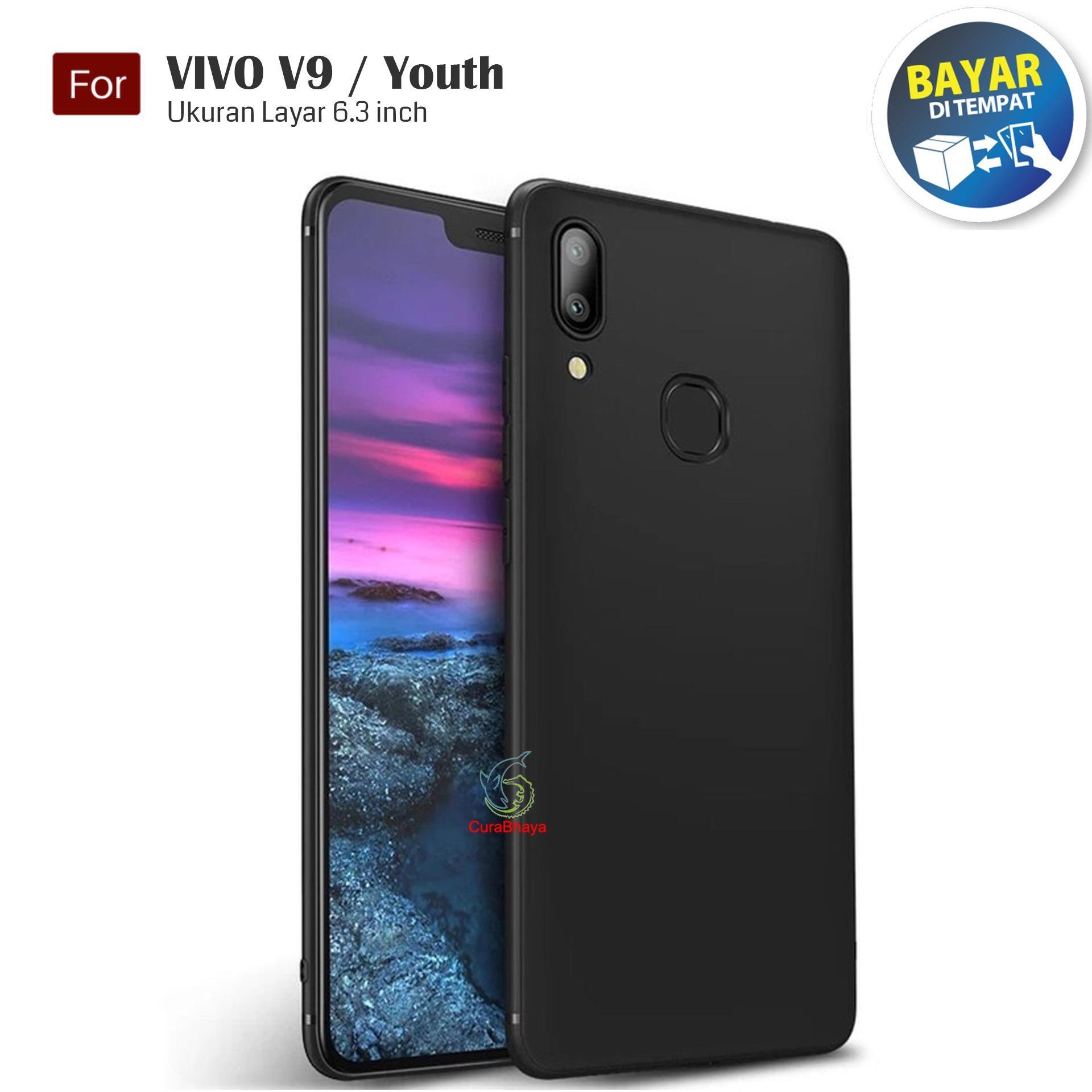 MidNight Vivo V9 / Youth / Y85| Slim Case Black Matte Softcase Premium Baby Skin - Hitam