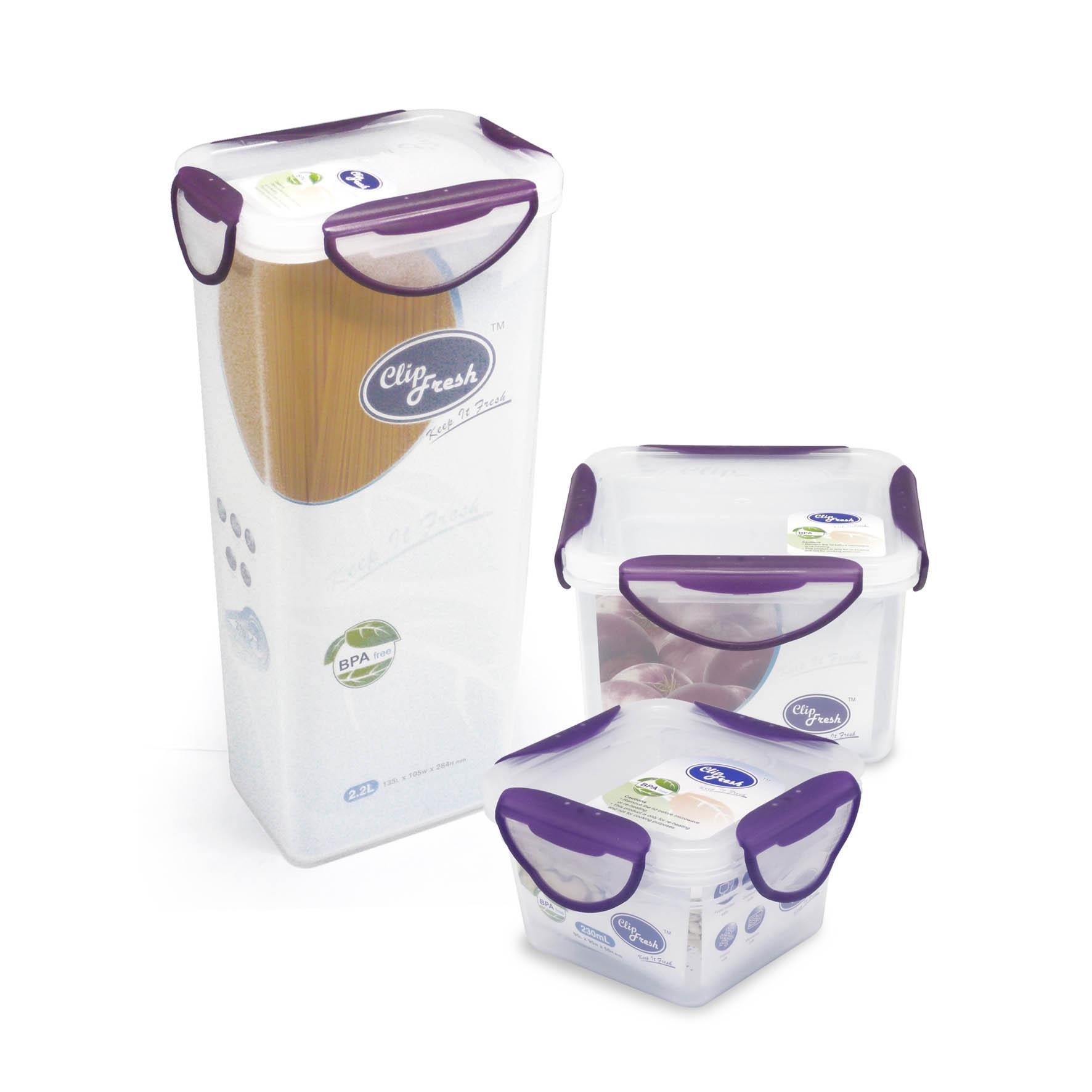 Clip Fresh Plastic Round Food Storage 0 68l Transparan Lid Violet Oxone Ox 303 Liberty Jar Tempat Kue Snack Makanan Besar 3pcs Set