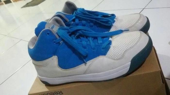ASLI!!! Sepatu Basket League White-Blue ORIGINAL - MIYAey