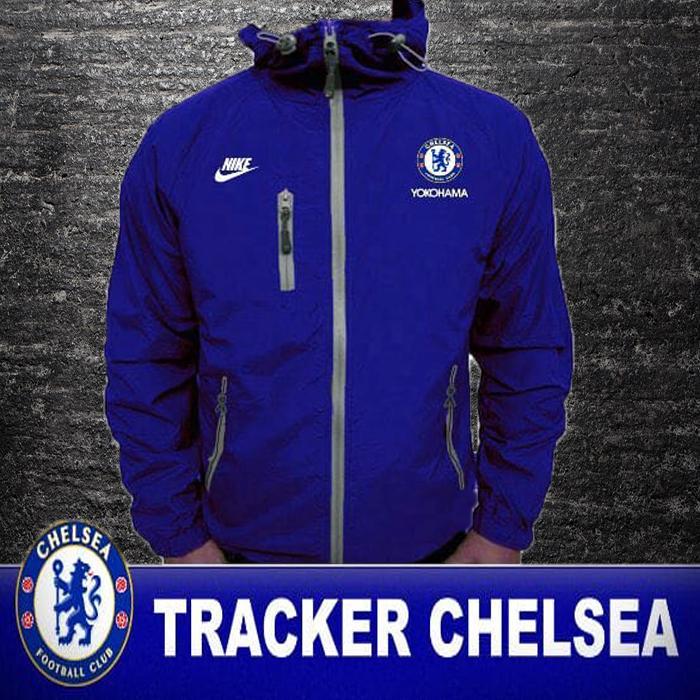 Jaket Tracker Chelsea Biru By Jayaragastore.