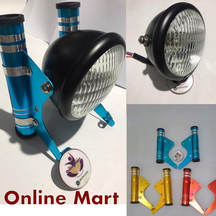 [SIAP KIRIM] Lampu Reflektor Cb Mini Plus Breket Warna Variasi Rx King Cb Gl Max Dl BERKUALITAS