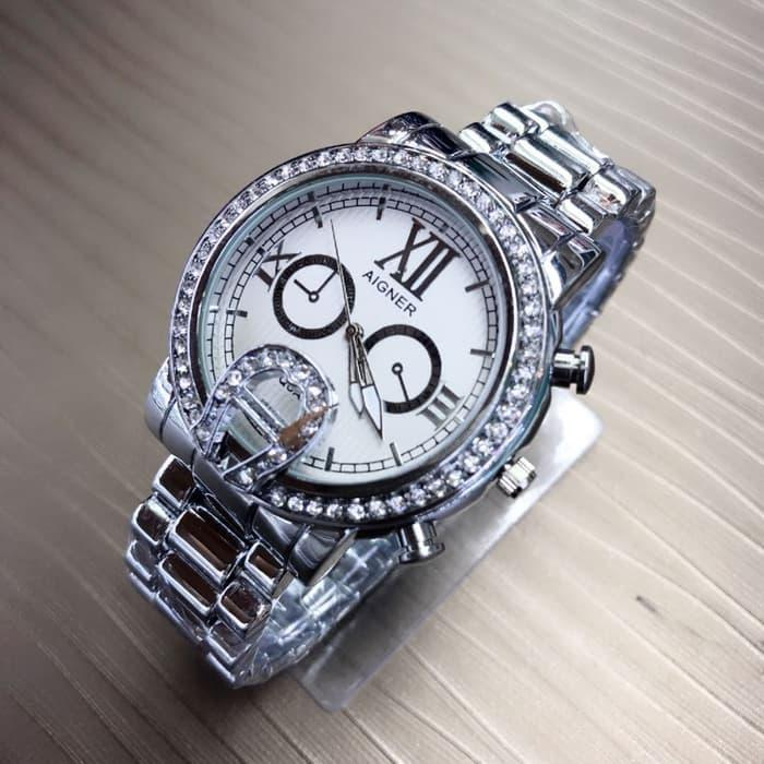 AIGNER RANTAI CHRONO OFF SILVER COVER WHITE