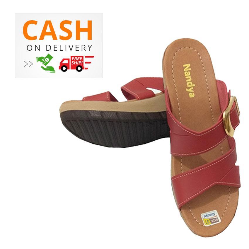 Nandya Sandal- Wedges Sandal Wanita 6e2d60aba6
