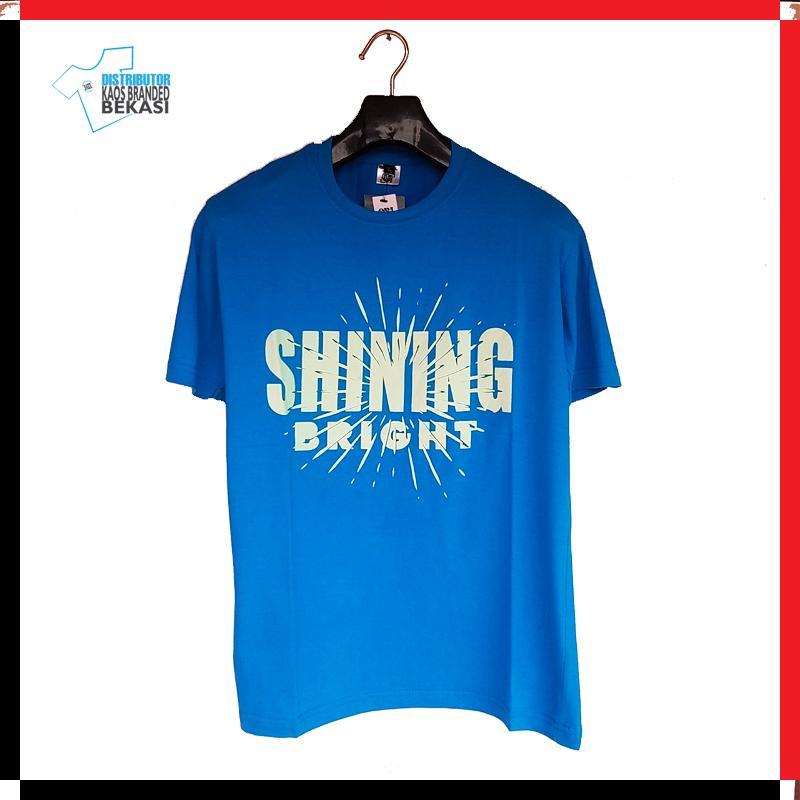 KSHI01B - KAOS DISTRO PRIA SHINING BRIGHT BIRU MUDA - DKBB CLOTH - KAOS PREMIUM - KAOS SURFING - CO