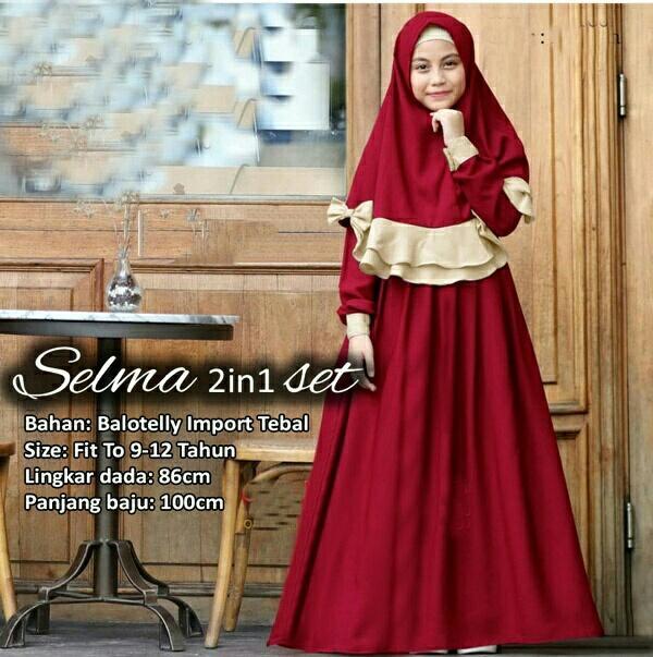HSN Fashion Dress Muslim Anak Semaki / Baju Hijab Anak / Gamis Anak Perempuan / Baju Muslim Anak