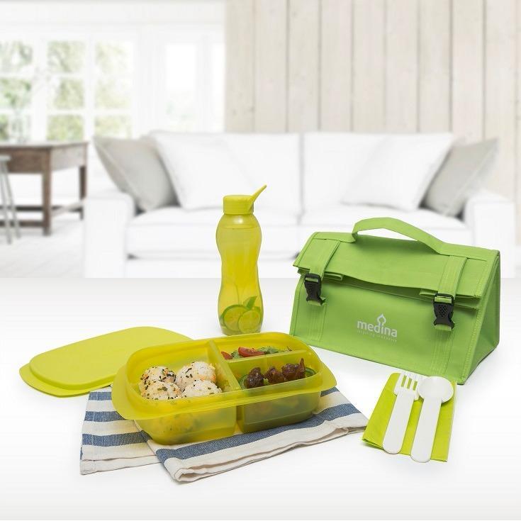 Tempat Makan - Botol Minum - Duo Simple Set Green - Tupperware