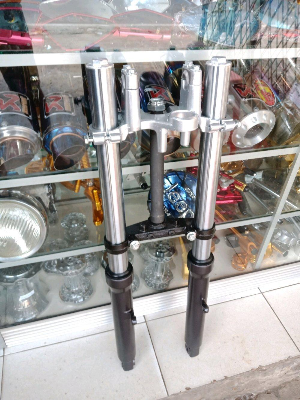 Shock Depan Yamaha Byson Satu Set As Shock - Segitiga Ride It Custom Modif