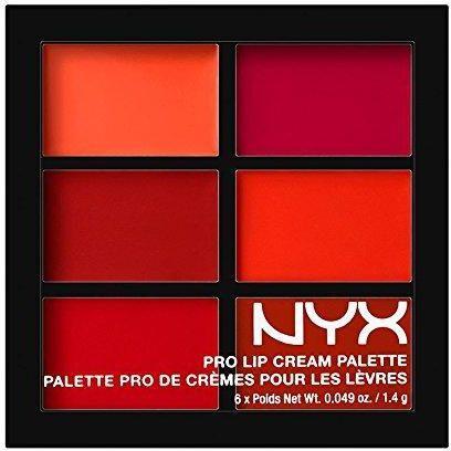 NYX Professional Makeup Pro Lip Cream Palette 6 Warna 1000% Original BPOM - PLCP03 The Reds